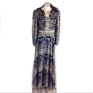 Sheryl Crow Vintage Boho Maxi Paisley Dress 14